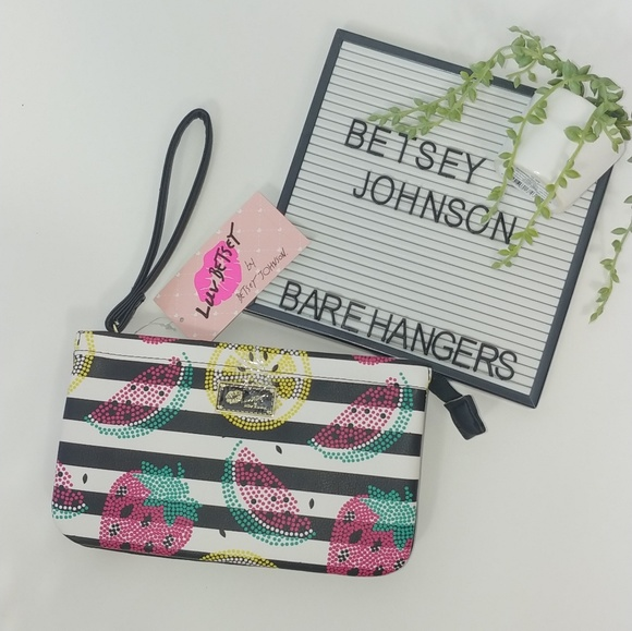 Betsey Johnson Handbags - Betsey Johnson | Double Pouch Fruit Wristlet